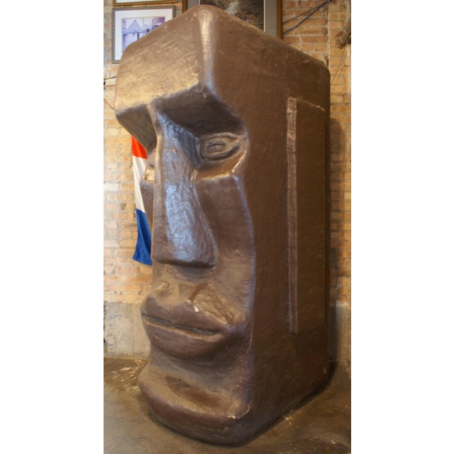 Giant Tiki Head Statue For Sale - Image 4 of 4