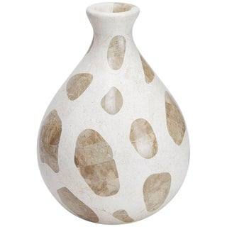 "Waterdrop Shaped ""Giraffe"" Vase in White and Cantor Tessellated Stone"