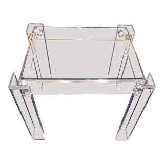 Mid Century Lucite End Table For Sale