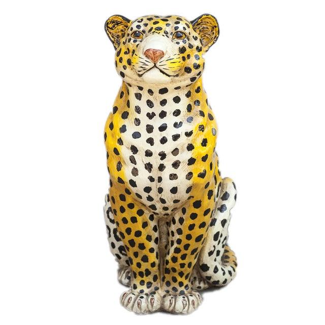 Mid-Century Ceramic Leopard - Image 4 of 10
