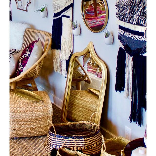 Modern Worlds Away Zanzibar Gold Leafed Mirror For Sale - Image 3 of 5