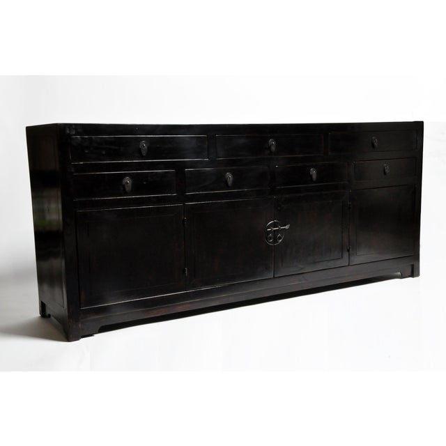 Asian Seven Drawer Chinese Sideboard With Bi-Folding Doors For Sale - Image 3 of 13