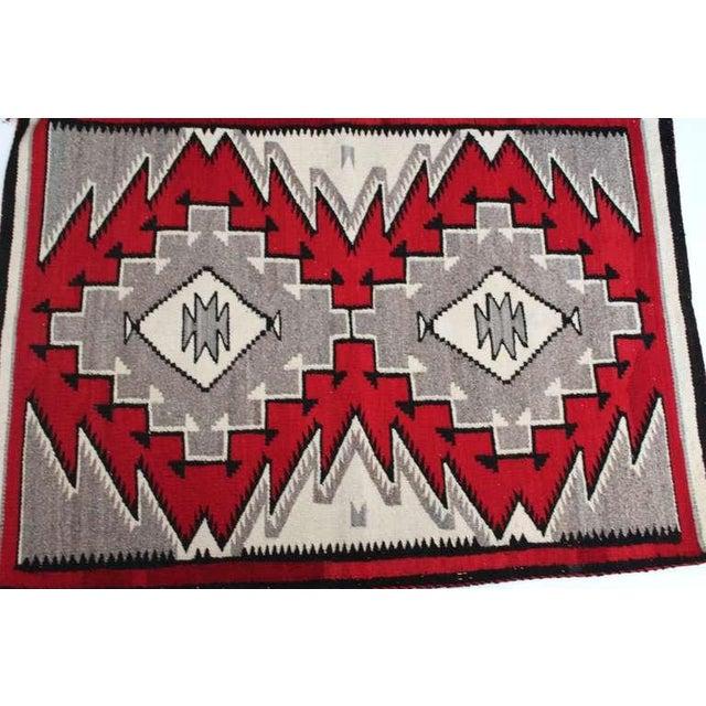 Navajo Indian Ganado Woven Saddle Blanket - Image 4 of 4