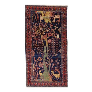 """Antique Persian Lillihan Tree of Life Rug, 4'3"""" X 8'2"""" For Sale"""