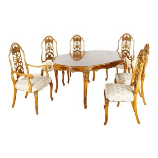 Modern Romweber Louis XV Beaucaire Dining Set- 6 Pieces For Sale