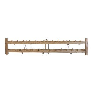 Antique Craved Elm Wall Rack For Sale