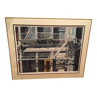 "1983 Vintage Ed Bordett ""Great Escape II"" Serigraph Print For Sale"