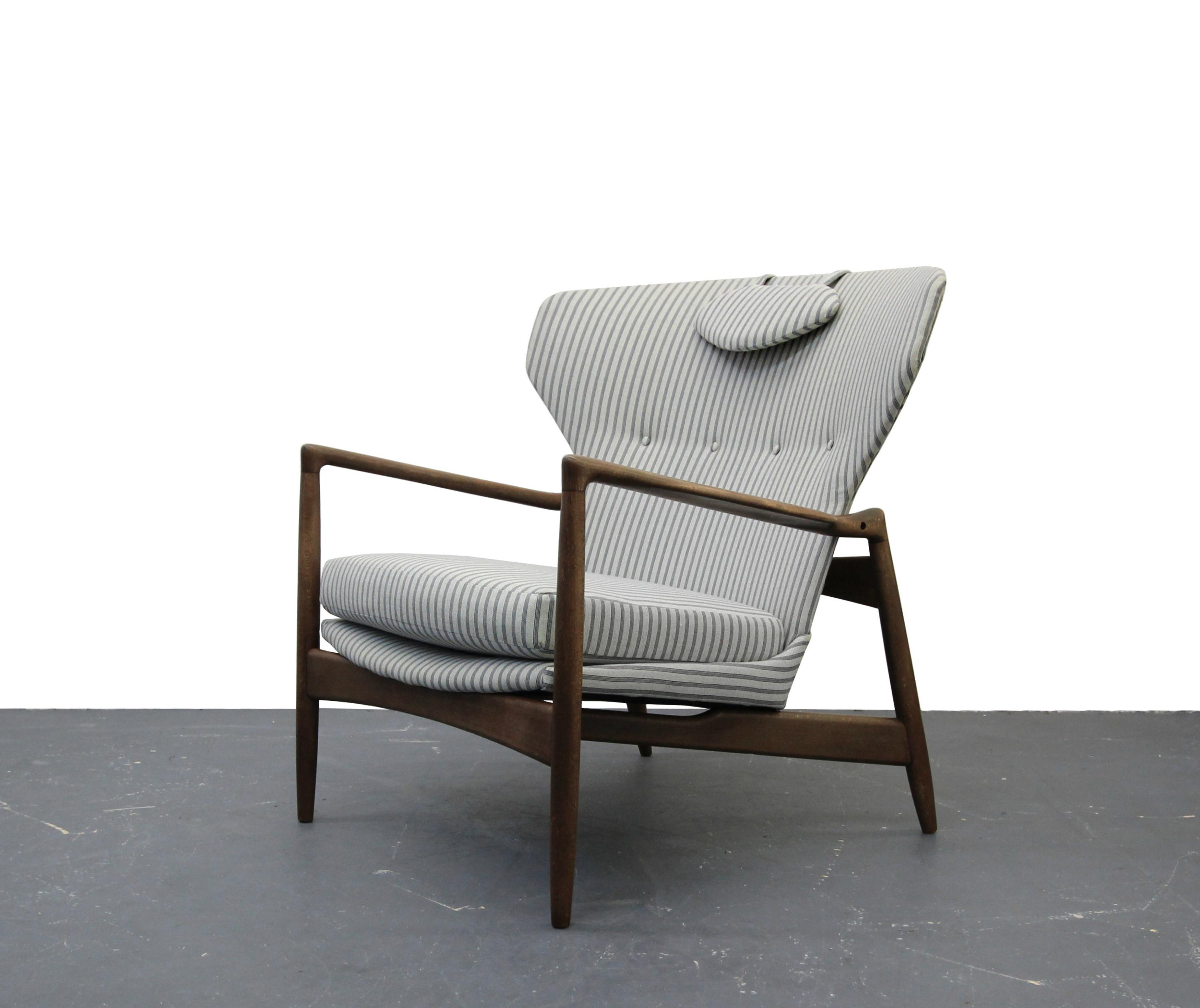 Merveilleux Mid Century Danish Wingback Lounge Chair By IB Kofod Larsen   Image 2 Of 9