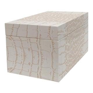 Pink Crocodile Pattern American Made Wood Box For Sale