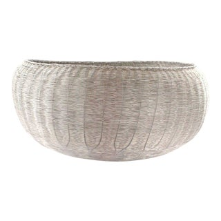 1980s Vintage Michael Aram Wire Woven Basket Bowl For Sale
