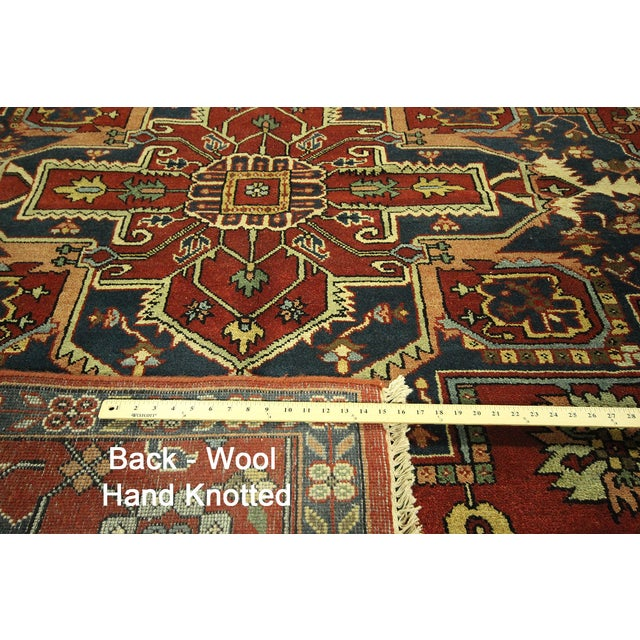 "Red Heriz Serapi Wool Rug - 10' x 14'1"" - Image 10 of 10"