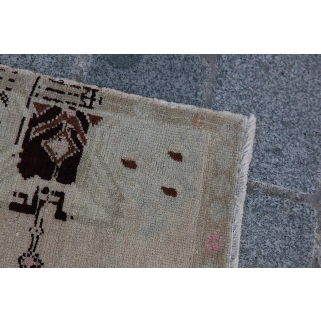 Vintage Turkish Muted Colour Carpet - 3' 5'' X 1' 8'' - Image 7 of 11
