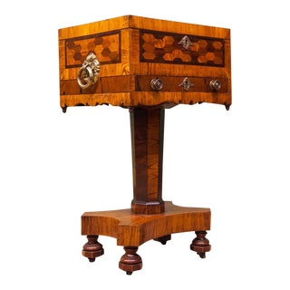 Early 19th Century Inlaid Regency Work Table For Sale