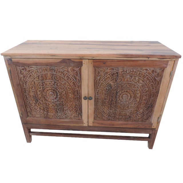Carved Lotus Cabinet - Image 1 of 3