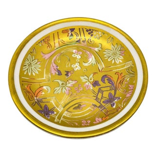 Mottahedeh Gold Floral Round Dish