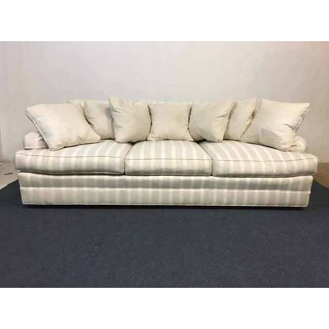 Pleasant Frederick Edward White Satin Striped Upholstered Sofa Uwap Interior Chair Design Uwaporg