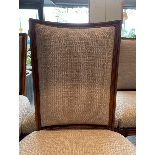 Set of 8 Traditional Louis Oak Dining Chairs For Sale In Los Angeles - Image 6 of 11