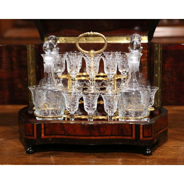 19th Century French Napoleon III Walnut and Burl Complete Cave a Liqueur For Sale In Dallas - Image 6 of 13