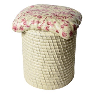English Trompe l'Oeil Ceramic Garden Stool C.1890-1920 For Sale