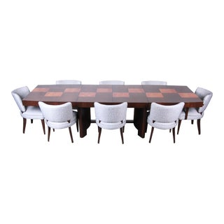 Gilbert Rohde for Herman Miller Art Deco Dining Set, Fully Restored For Sale