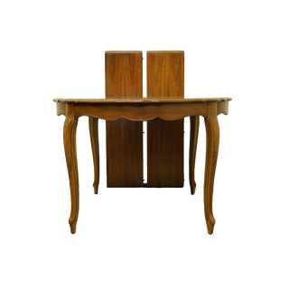 20th Century French Provincial Thomasville Furniture Tableau Collection Round Dining Table For Sale