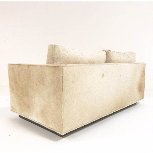 Forsyth One of a Kind Milo Baughman for Thayer Coggin Loveseat Sofa in Palomino Brazilian Cowhide For Sale In Saint Louis - Image 6 of 11