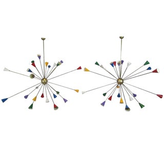 Twenty-Four-Arm Italian Sputnik Chandelier