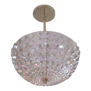 2 Austrian MId-Century Modern Crystal Pendants /Chandeliers, Attr. Bakalowits