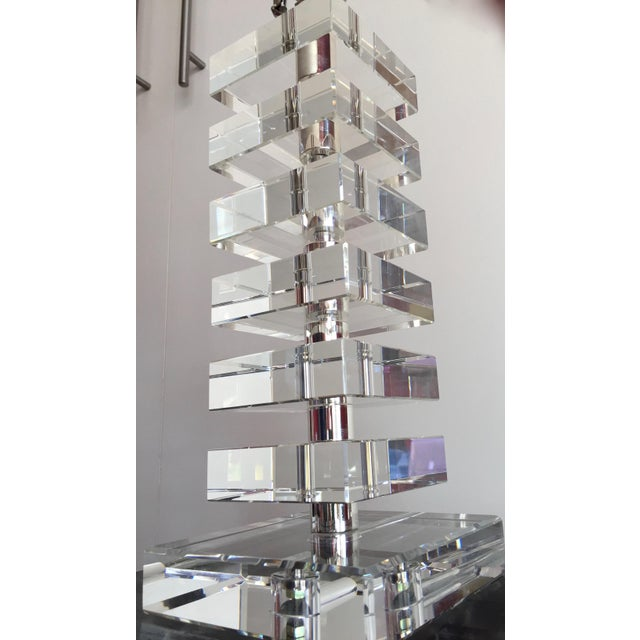 Robert Abbey Vintage Stacked Crystal Table Lamp Chairish