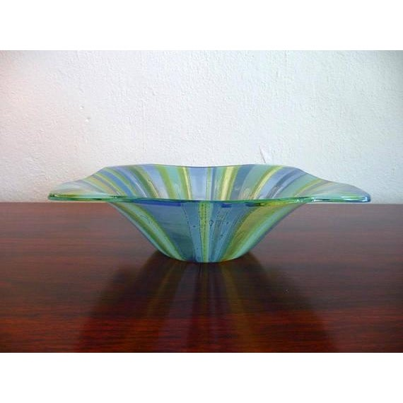 Higgins Glass Higgins Fused Glass Tray & Bowl - A Pair For Sale - Image 4 of 11
