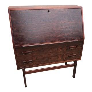 Danish Rosewood Secretary Desk by Arne Wahl Iversen for Vinde Mobelfabrik For Sale