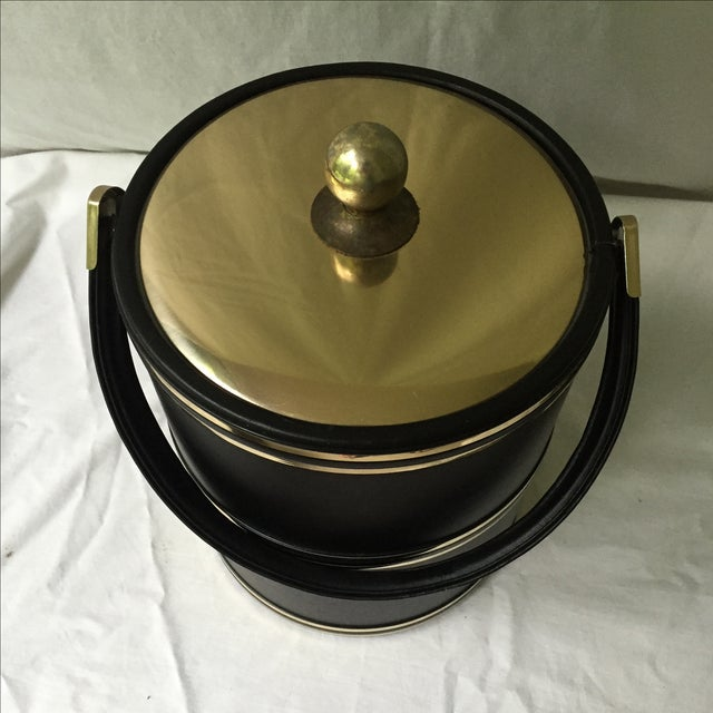 Faux Leather & Gold Ice Bucket - Image 4 of 5