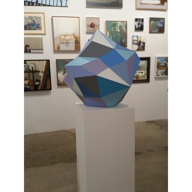 21st Century Blue Diamond Sculpture by Sassoon Kosian For Sale In New York - Image 6 of 9