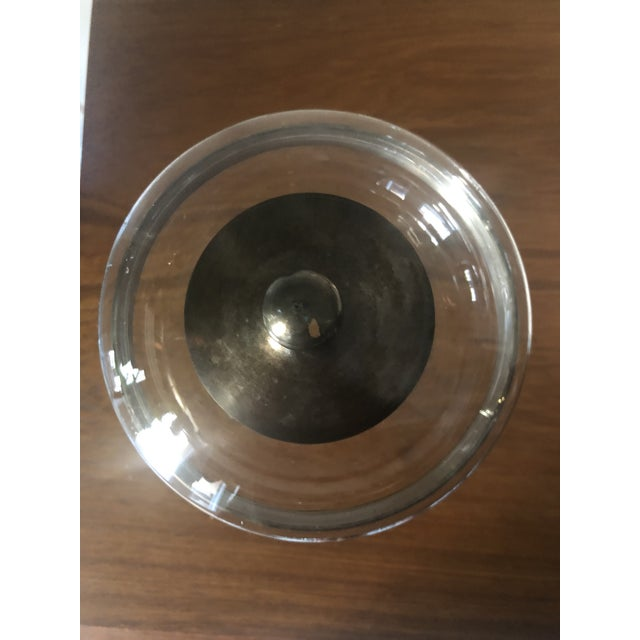 Mid 20th Century Dorothy Thorpe Silver Band Footed Compote and Bowl For Sale - Image 5 of 6