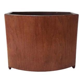 Mid Century Modern Stow & Davis Teak Paper Basket C.1960s For Sale