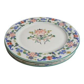 Chinese Porcelain Plates - Set of 3 For Sale