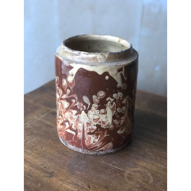 Antique Pugliese Marbleized Canister For Sale - Image 10 of 10