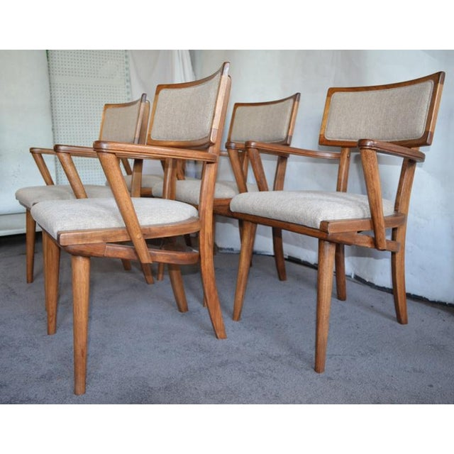 1960s Mid Century Ash Chairs - Set of 5 For Sale - Image 5 of 10