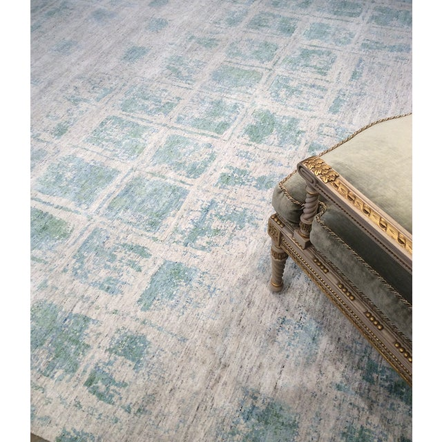 Pasargad's Aqua Silk Collection Rug - 9' x 12' - Image 6 of 6