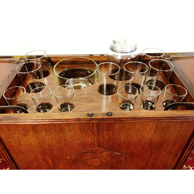 Would anyone care for a cocktail? This is an incredibly fun piece! This was originally a radio cabinet that had been re-...