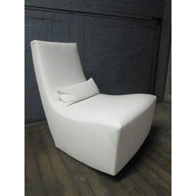1970s Leather Lounge Chair and Ottoman by Ligne Roset For Sale - Image 5 of 10