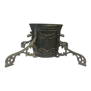 Vintage Cast Iron Christmas Tree Stand For Sale