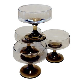 Tawny Accent Champagne/Tall Sherbet Glasses - Set of 4 For Sale