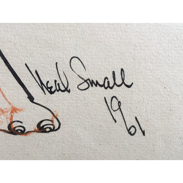 Neal Small Original Pen and Ink Drawing For Sale In Philadelphia - Image 6 of 8