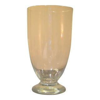 """Large Clear Glass Vase - 20"""" Tall For Sale"""