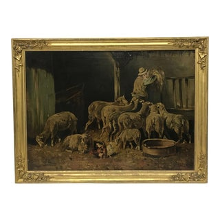 Antique French Oil Painting For Sale