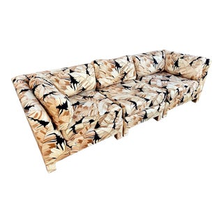 Century Furniture 70's Parsons 3pc Palm Sectional For Sale