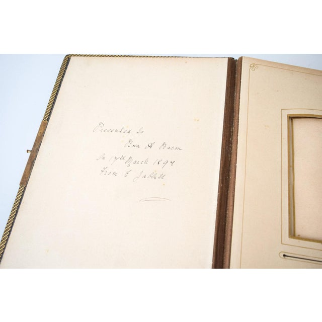 Antique English Victorian Photo Album with Brass Clasp, 1890s For Sale - Image 4 of 6
