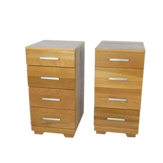 1950s Mid-Century Modern Raymond Loewy Side Tables/Nightstands - a Pair For Sale