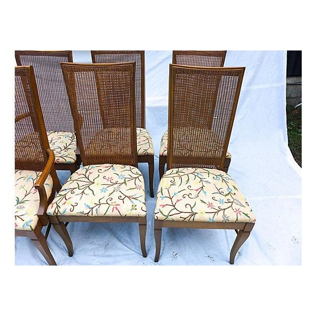 Mid-Century Caned Dining Chairs - Set of 6 - Image 3 of 8